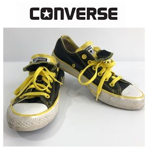 Converse Black and Yellow Low Top Sneakers